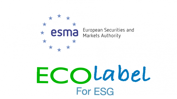 ESMA European Securities and Markets Authority e la ipotesi un Ecolabel a livello europeo