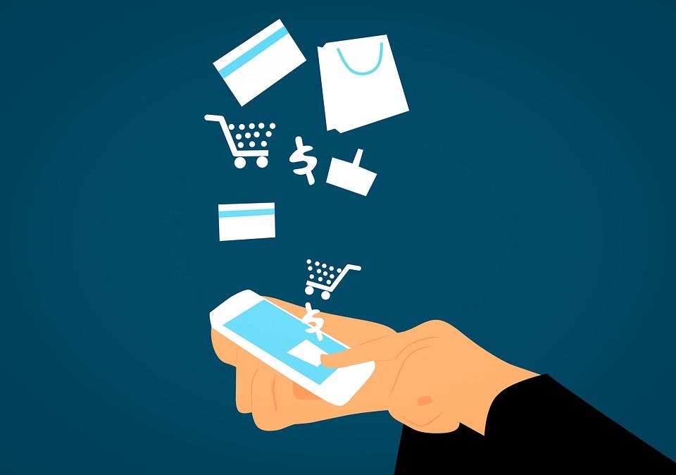 Visto, Business, Acquisto, Carta, Cellulare, Bancario